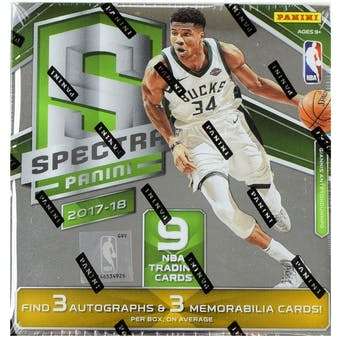 2017/18 Panini Spectra Basketball 8-Box Case- DACW Live 30 Spot Pick Your Team Break #1
