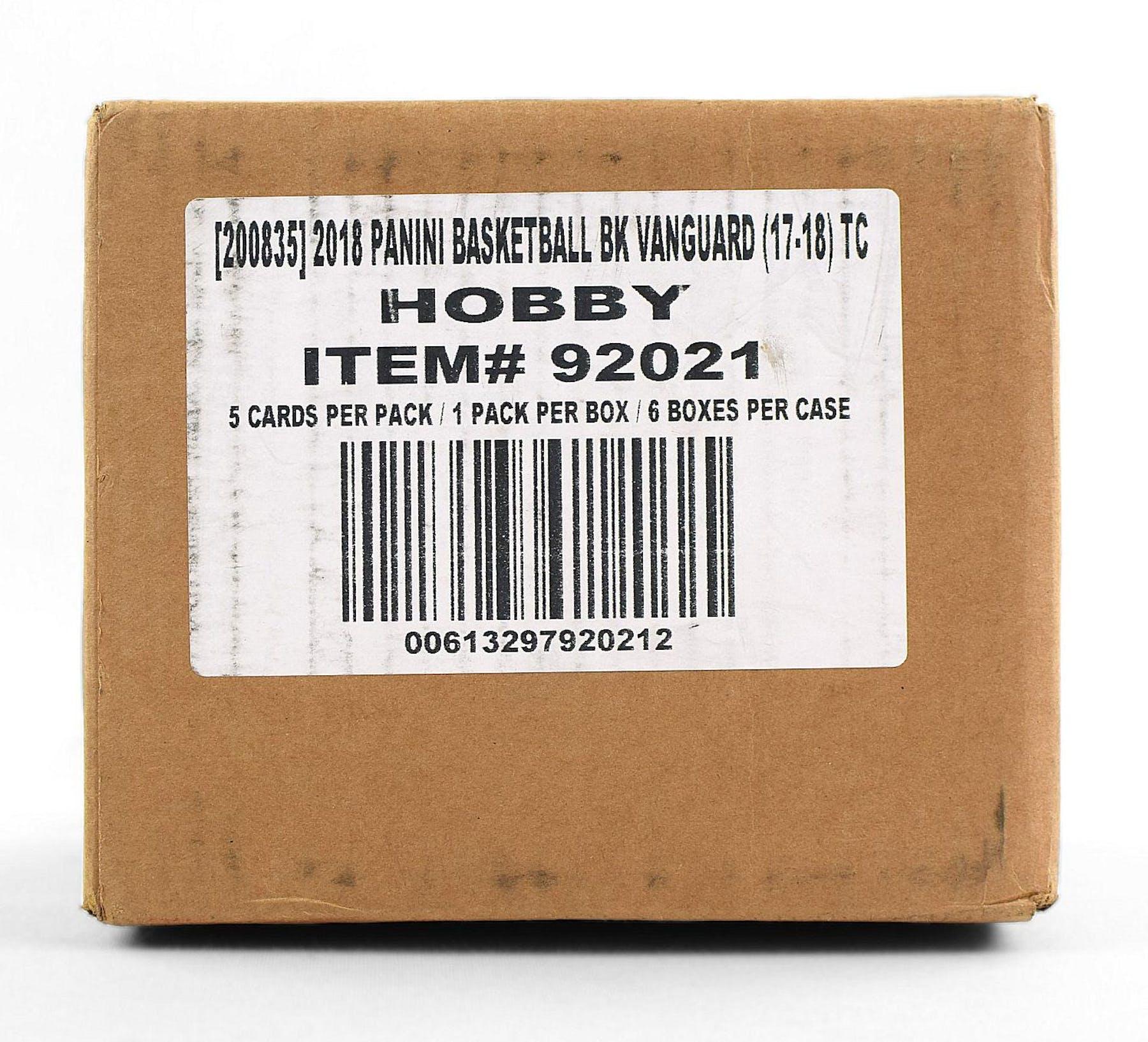 2017/18 Panini Vanguard Basketball Hobby 6-Box Case