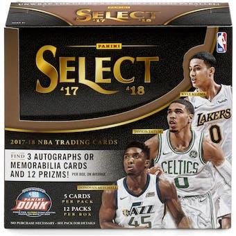 2017/18 Panini Select Basketball Hobby Box