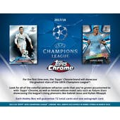2017/18 Topps Chrome UEFA Champions League Soccer Hobby Pack