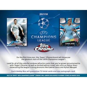 2017/18 Topps Chrome UEFA Champions League Soccer Hobby Pack