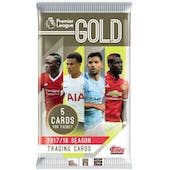 2017/18 Topps Premier League Gold Soccer Hobby Pack