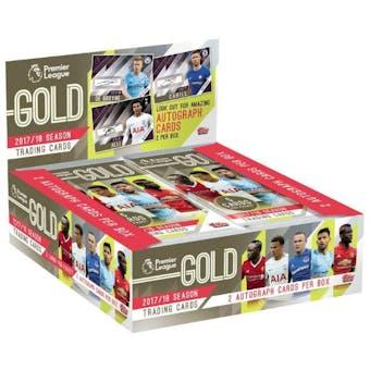 2017/18 Topps Premier League Gold Soccer Hobby Box