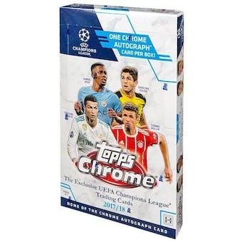 2017/18 Topps Chrome UEFA Champions League Soccer Hobby 12-Box Case