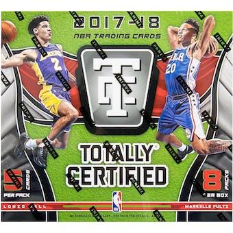 2017/18 Panini Totally Certified Basketball Hobby Box