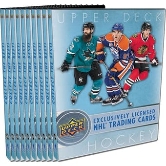 2017/18 Upper Deck Series 1 Hockey Starter Kit 10ct Case