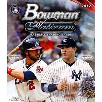 2017 Bowman Platinum Baseball 20-Pack Box