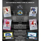 2017 Leaf Metal Perfect Game All-American Baseball Hobby Box