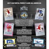 2017 Leaf Metal Perfect Game All-American Baseball Hobby Box