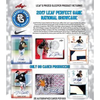 2017 Leaf Perfect Game Showcase Baseball Hobby Box