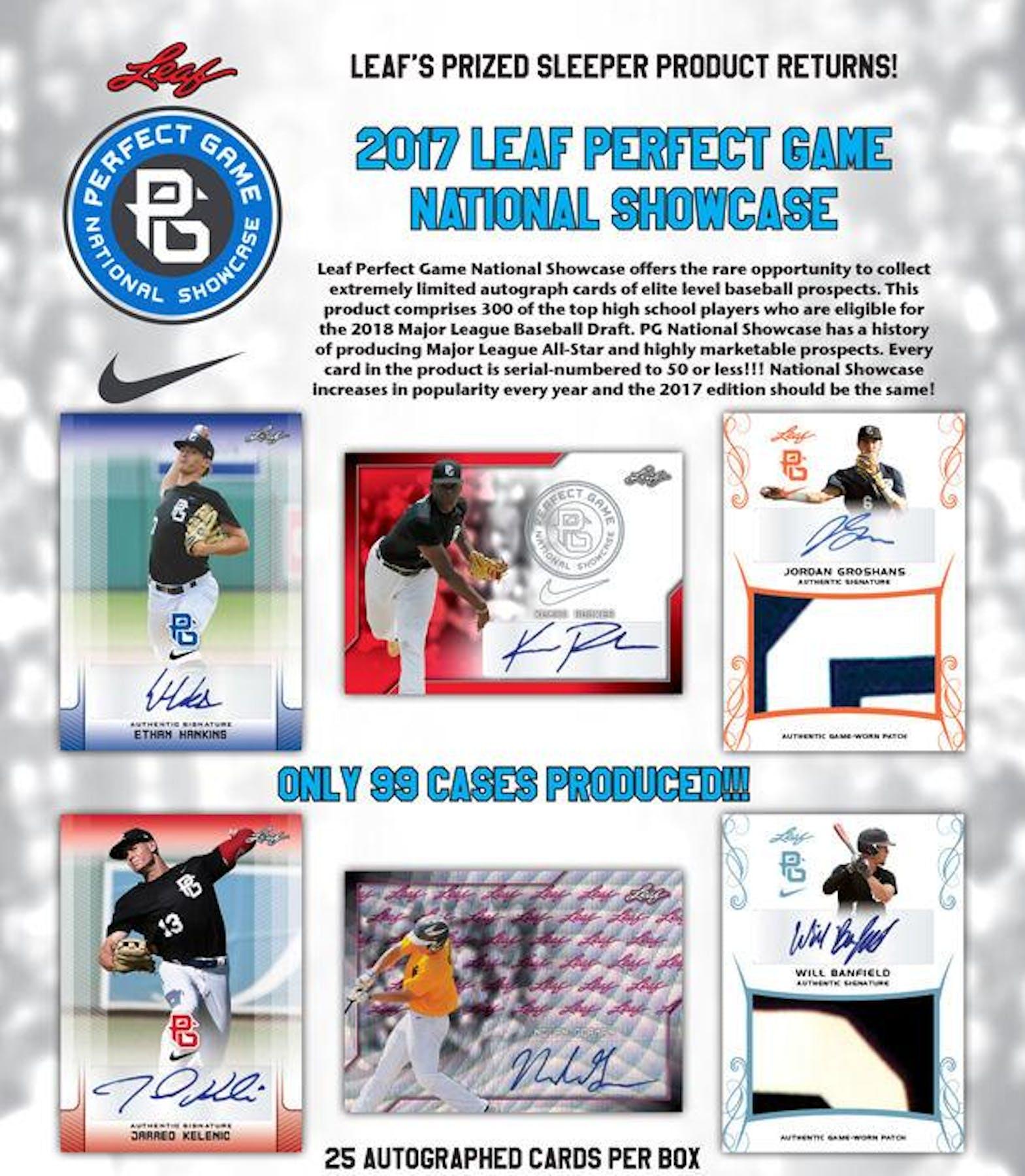 2017 Leaf Perfect Game Showcase Baseball Hobby Box   DA