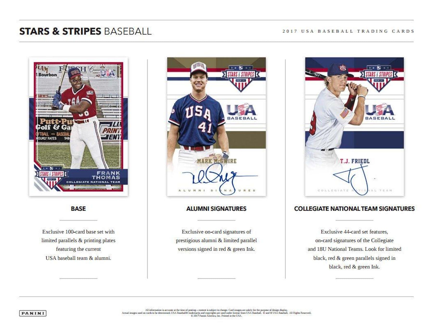 2017 Panini Usa Stars Stripes Baseball Hobby Box Da Card World