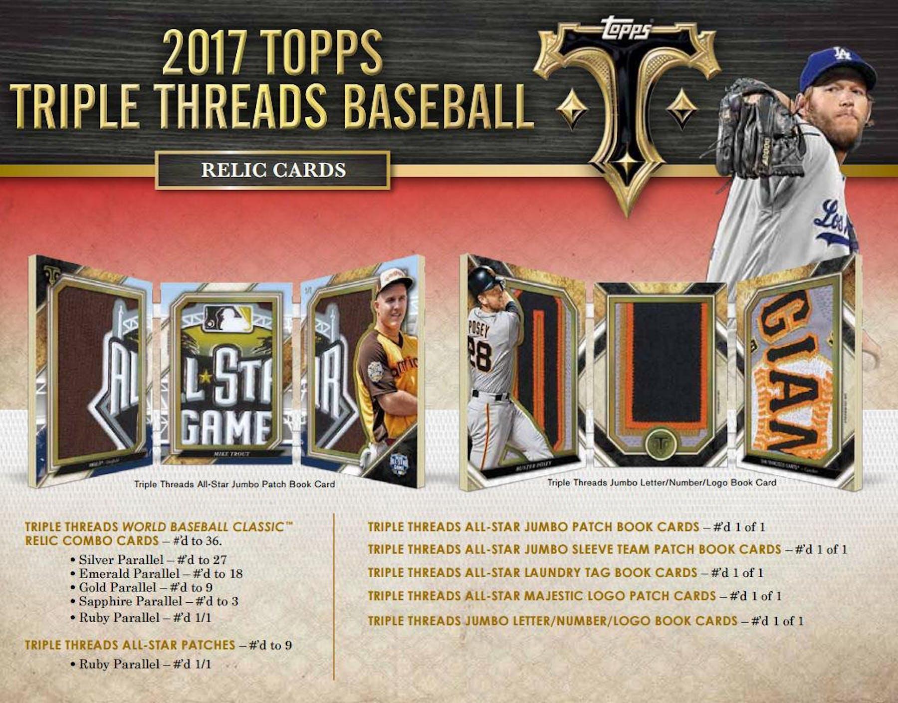 2017 Topps Triple Threads Baseball Hobby Box Da Card World