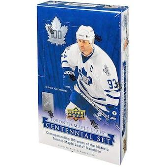 2017/18 Upper Deck Toronto Maple Leafs Centennial Hockey Hobby Box