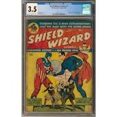 Shield-Wizard Comics #1 CGC 3.5 (C-OW) *2017135012*