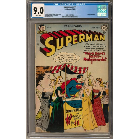 Superman #71 CGC 9.0 (W) *2017137004*