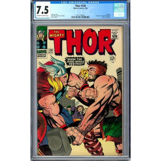 Thor #126 CGC 7.5 (OW-W) *2017139005*