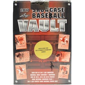 2017 Leaf Showcase Vault Baseball Hobby Box