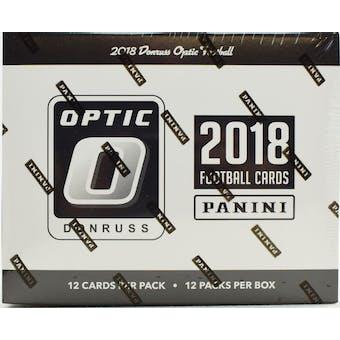2018 Panini Donruss Optic Football Jumbo/Fat 12 Pack Box