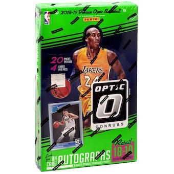 2018/19 Panini Donruss Optic Basketball Retail 20-Pack Box