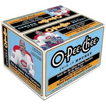 2018/19 Upper Deck O-Pee-Chee Hockey Retail 36-Pack Box