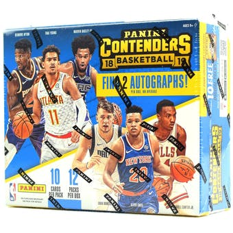 2018/19 Panini Contenders Basketball 12-Box Case- DACW Live 30 Spot Pick Your Team Break #1
