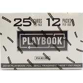 2018 Panini Playbook Football 12-Pack Jumbo Box