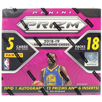 2018/19 Panini Prizm Fast Break Basketball Box