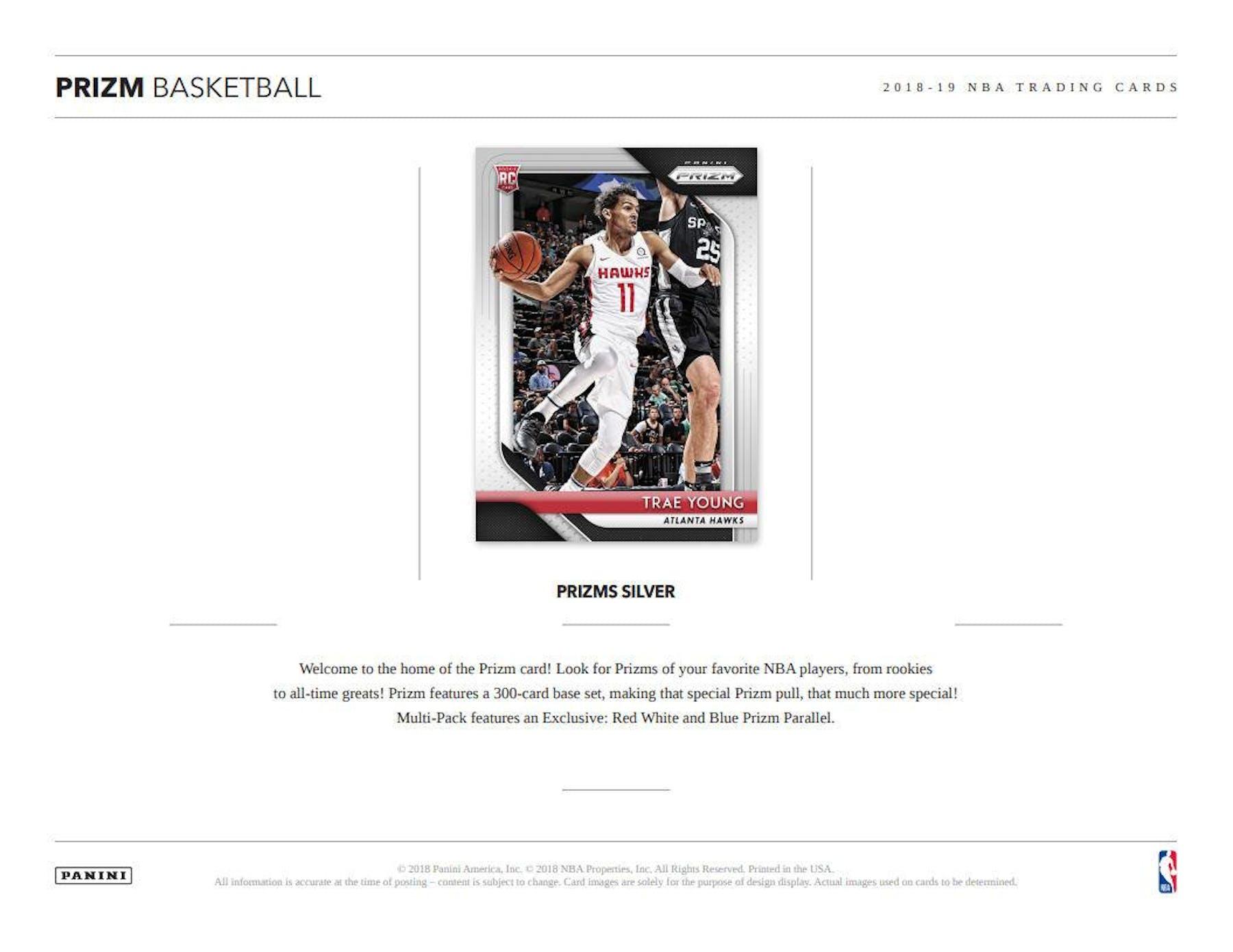 2018/19 Panini Prizm Basketball Super Value Rack Box | DA