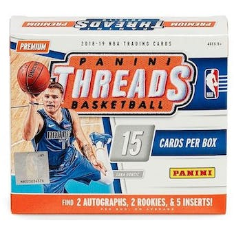 2018/19 Panini Threads Basketball Premium Edition Box