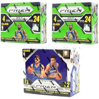 COMBO DEAL - 2018/19 Prizm Basketball Boxes (2x Prizm 24-Pack Box, 1 Prizm Hobby Box)