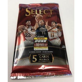 2018/19 Panini Select Basketball Hobby Pack