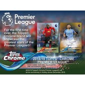 2018/19 Topps Chrome Premier League Soccer Hobby Pack