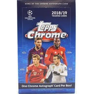 2018/19 Topps Chrome UEFA Champions League Soccer Hobby Box