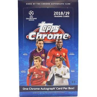 2018/19 Topps Chrome UEFA Champions League Soccer Hobby Box