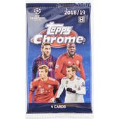 2018/19 Topps Chrome UEFA Champions League Soccer Hobby Pack