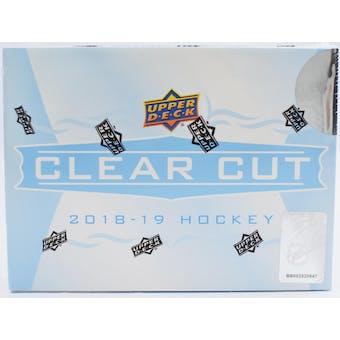2018/19 Upper Deck Clear Cut Hockey Hobby Box