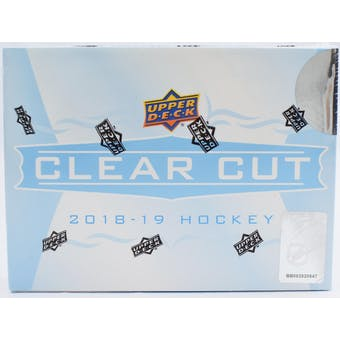 2018/19 Upper Deck Clear Cut Hockey 15-Box Case- DACW Live 31 Spot Pick Your Team Break #4