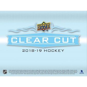 2018/19 Upper Deck Clear Cut Hockey Hobby Box (Presell)