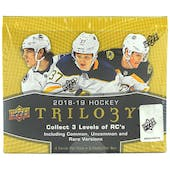 2018/19 Upper Deck Trilogy Hockey Hobby Box