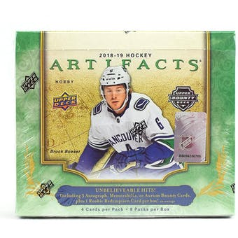 2018/19 Upper Deck Artifacts Hockey Hobby Box