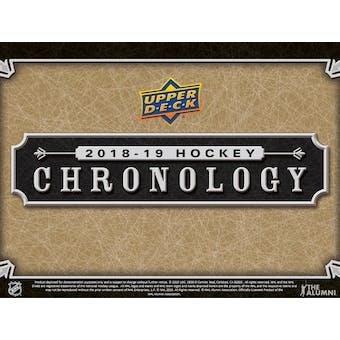 2018/19 Upper Deck Chronology Hockey Vol. 1 8-Box Case- DACW Live 24 Spot Random Hit Break #4