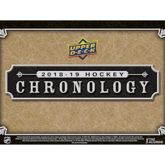 2018/19 Upper Deck Chronology Hockey Vol. 1 8-Box Case- DACW Live 24 Spot Random Hit Break #3