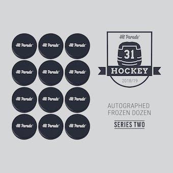 2018/19 Hit Parade Autographed FROZEN DOZEN Hockey Puck Series 2 Hobby Box Matthews, Messier & Orr!!
