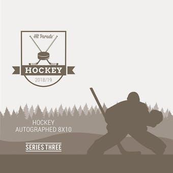 2018/19 Hit Parade Autographed Hockey 8x10 Photo Hobby 10-Box Case - Series 3 Matthews, McDavid & Orr!!
