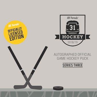 2018/19 Hit Parade Auto Hockey Official Game Puck Case Ser 3- DACW Live 10 Spot Random Hit Break #1