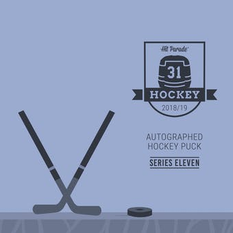2018/19 Hit Parade Autographed Hockey Puck Series 11 Hobby 10-Box Case - Stamkos, Toews & McDavid!!