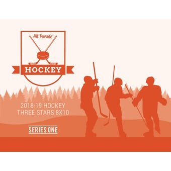 2018/19 Hit Parade Autographed Hockey Three Stars 8x10 Photo 10-Box Case - Series 1 McDavid & Orr!!