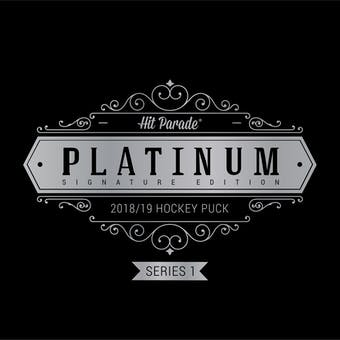 2018/19 Hit Parade Autographed Platinum Hockey Puck Hobby Box - Series 1 Auston Matthews & Gordie Howe!!