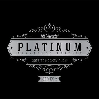 2018/19 Hit Parade Autographed Platinum Hockey Puck Series 2 Hobby Box Kane, Burns & Matthews!!